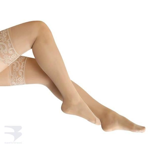 Ladies Thigh High Compression Stockings (15-20 mm Hg Compression) -  by Advanced Orthopaedics - Superior Braces - SuperiorBraces.com