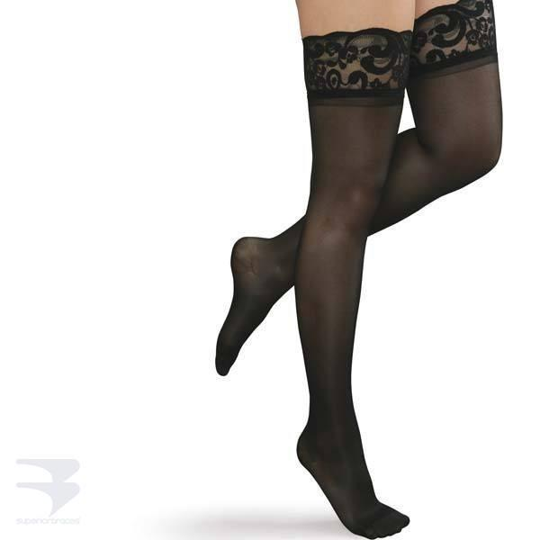 Ladies Thigh High Compression Stockings (15-20 mm Hg Compression)