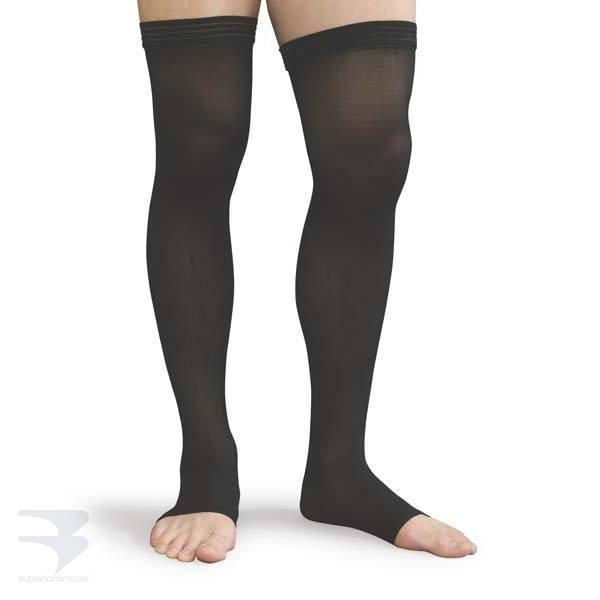 Compression Thigh High with Uniband (30-40 mm Hg Compression - Open / Closed Toe Options) -  by Advanced Orthopaedics - Superior Braces - SuperiorBraces.com
