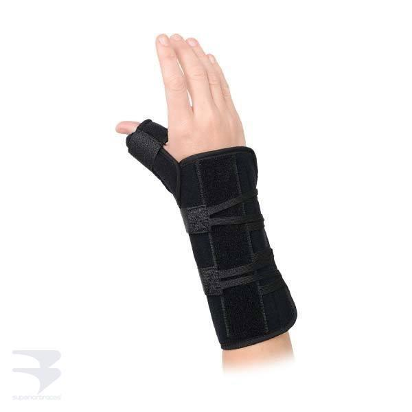 Universal Wrist Brace with Thumb Spica -  by Advanced Orthopaedics - Superior Braces - SuperiorBraces.com