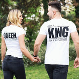 Only a King can attract a Queen - WHITE