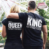 Only a Queen can keep a King focused - BLACK