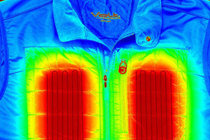 thermal image of volt heated clothing