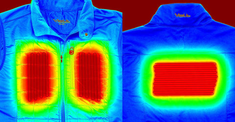 thermal image of heated jacket