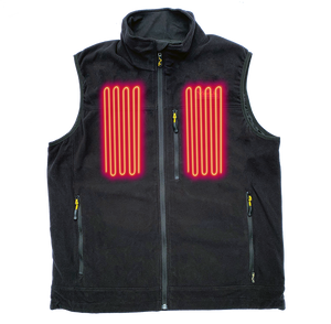 Fleece Heated Vest with two heating panels in the chest