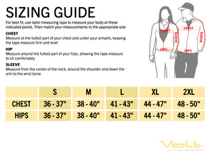 Sizing guide to make sure the Volt Heated Vest fits perfect
