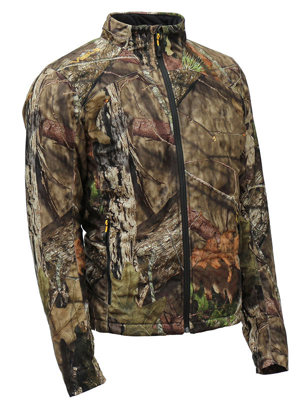 Mossy Oak Country Heated Jacket by Volt. 7V Rechargeable battery heat system keeps your core warm.