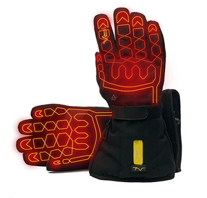 Volt Fleece Gloves heats both sides of the hand, to the end of each finger including the thumb