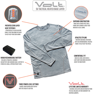 volt heated base layer features