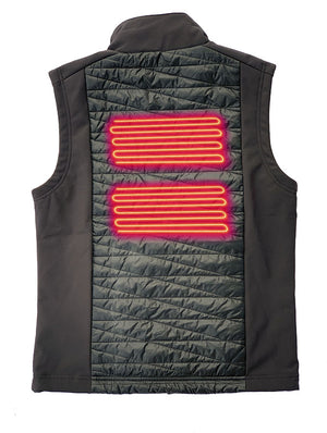Heats both sides of the chest and center of the back for superior warmth