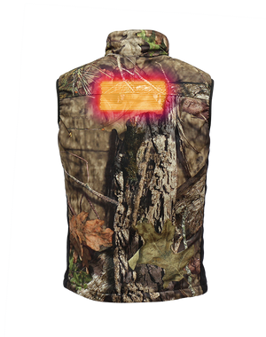 CAMO 7v Insulated Heated Vest - Mossy Oak Country