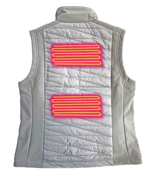 Women's Radiant Heated Vest back heating panels