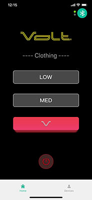 Volt Heated Clothing Bluetooth app