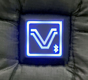 Heated Vest that uses a Bluetooth controller so you can control the heat system from your phone with the Volt App