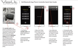 Bluetooth App quick start instructions for Volt Heated Clothing