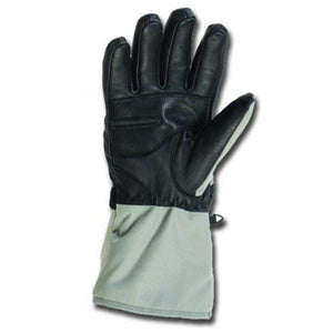 TATRA Women 7v Heated Snow Gloves have a leather palm