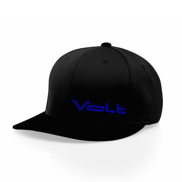 Hats - All Black Hat With Blue Volt Logo