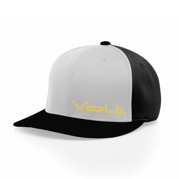Hats - Black Hat With Grey Front & Yellow Volt Logo