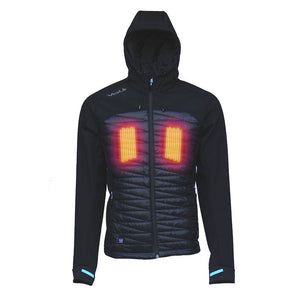 RADIANT Mens 5V Heated Jacket Heats both sides of the Chest