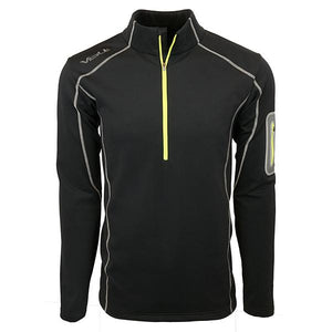 5V Heated Thermal Half Zip heats the collar and between the shoulder blades