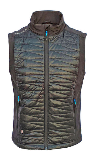 Men's Heated Vest. Quilted Nylon and Softshell