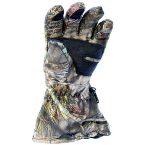 Mossy Oak Country heated gloves heat to the end of each finger including the thumb