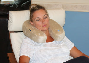 Relax with soothing heat at the base of your neck