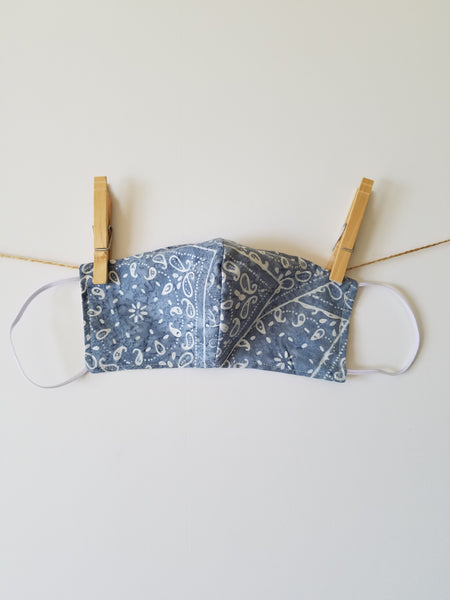 Reusable Face Mask with Bandana Print Fabric, Choose Color and Size - The Lovely Gift Co