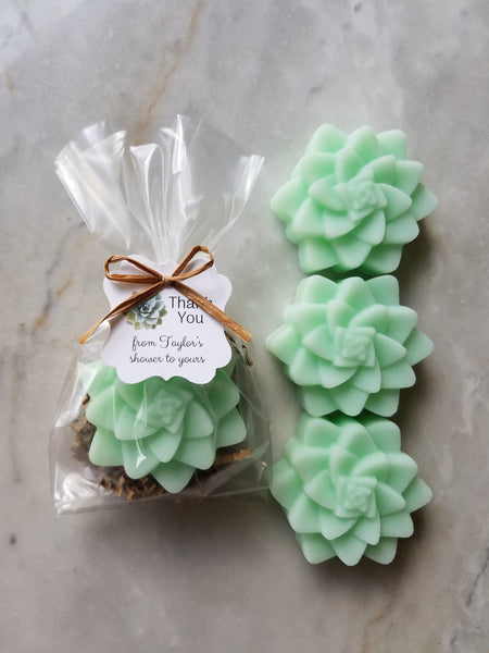 Succulent Soap Bridal Shower Favors Set of 12 - The Lovely Gift Co