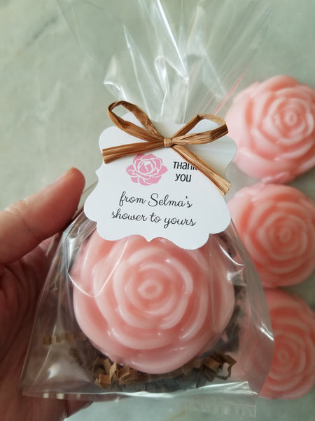 Rose Soap Party Favors Bridal Showers Weddings Set of 12 - The Lovely Gift Co