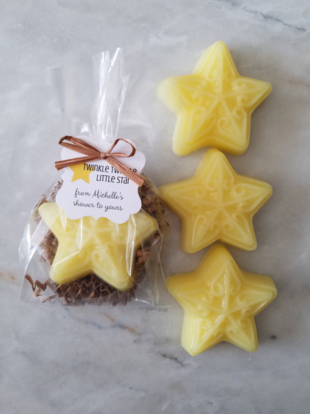 Star Soap Baby Shower Favors Twinkle Twinkle Little Star Set of 12 - The Lovely Gift Co