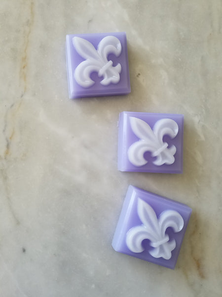 French Lavender Fleur de lis Soap Favors, Set of 9 - The Lovely Gift Co