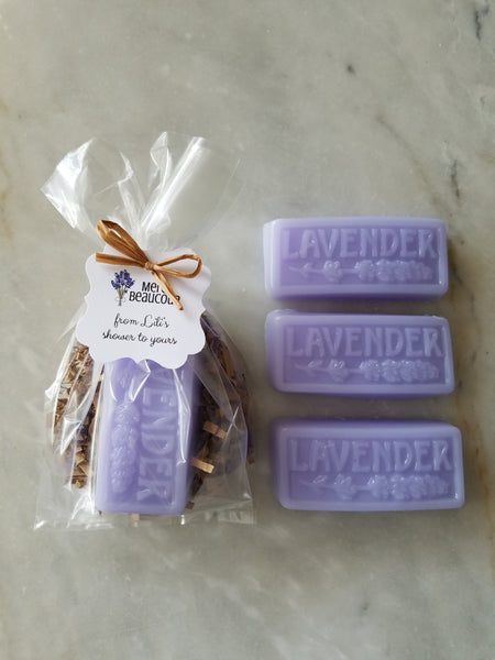 Lavender Soap Bridal Shower Favors Set of 12 - The Lovely Gift Co