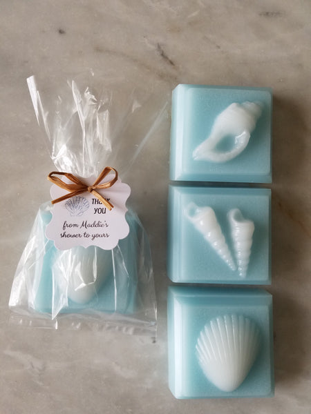 Sea Shell Soap Beach Nautical Wedding Favors Set of 9 - The Lovely Gift Co