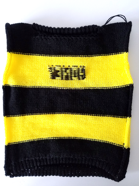 Personalized Bumble Bee Dog Sweater with Black and Yellow Stripes - The Lovely Gift Co