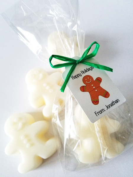 Gingerbread Man Holiday Gift Soap, Set of 12 - The Lovely Gift Co