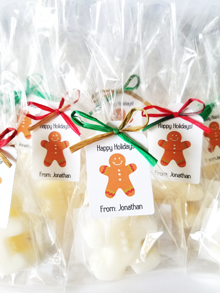 Gingerbread Man Holiday Gift Soap, Set of 12