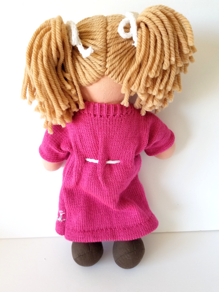 Kids Personalized Light Brown Hair Rag Doll - The Lovely Gift Co