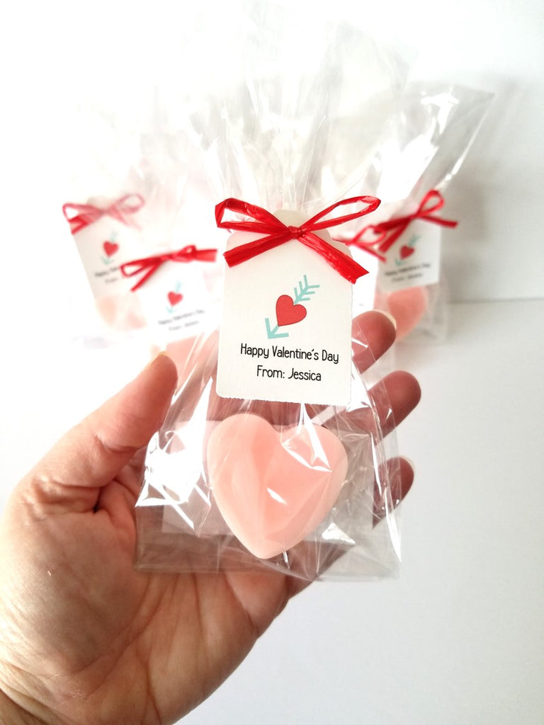 Kids Heart Soap Valentine S Day Party Favors Set Of 12 The Lovely Gift Co