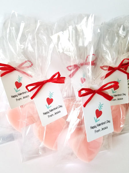 Kids Heart Soap Valentine's Day Party Favors, Set of 12 - The Lovely Gift Co
