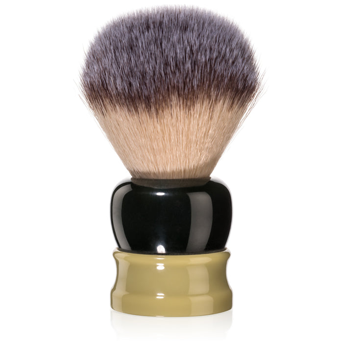 Fine Accoutrements Stout Shaving Brush - Green/Gold