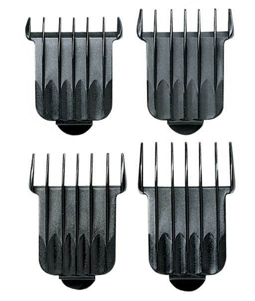 ANDIS T-Blades 4-Comb Set; Sizes 1/16, 1/8, 1/4, 3/8