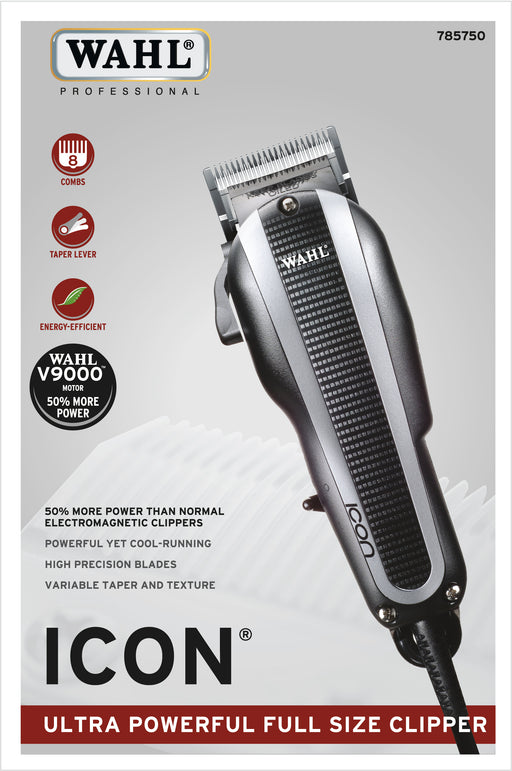 Wahl Icon Professional Hair Clipper (Includes 8 Guides)