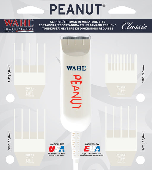 Peanut Mini Trimmer/Clipper (4 guides) Classic White
