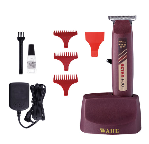 Wahl 5 Star Retro T-Cut Trimmer (With 3 Guides, T-Wide Blade & Rotary Motor)