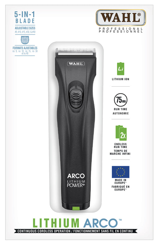 Wahl Lithium Arco Cordless Clipper (With 6 Guides & Rotary Motor)