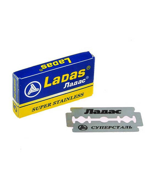 Barber Supplies Co. Ladas Double Edge Razor Blades Cuchillas Doble Filo (5 Blade pack)