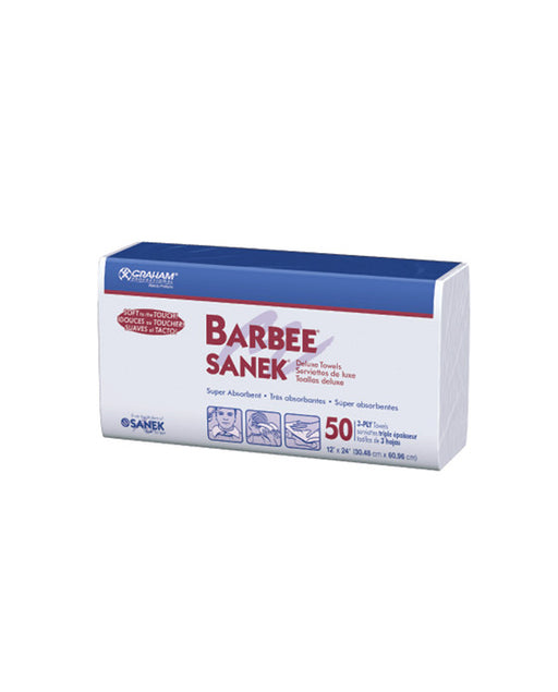 "Barbee Deluxe Towel White 3 ply 500/CS ( 12"" x 24"" )"