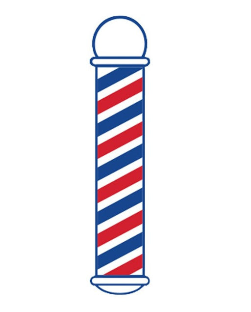 "Barber Pole Cling Window Decal Sticker (22"" / 5"")"