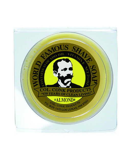 Colonel Conk Almond Glycerin Shave Soap (64g/2.25oz)